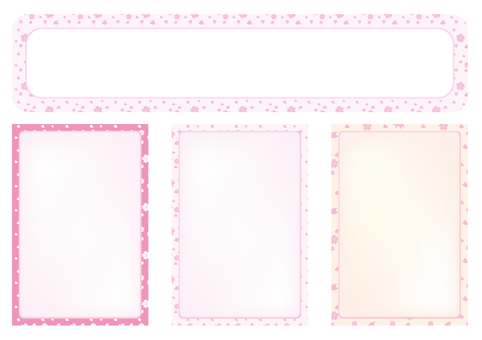 Cherry blossom pattern card set