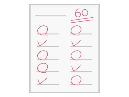 60 점의 테스트