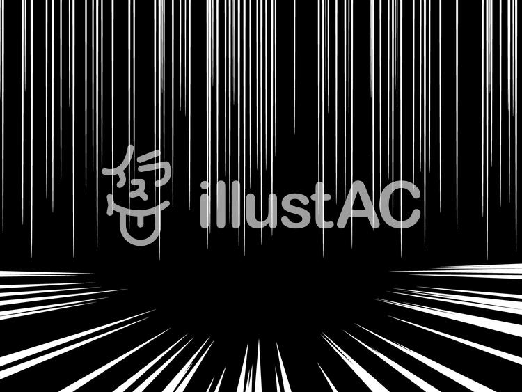 集中線2(ホワイト)のイラスト