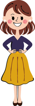 Plain clothes young woman