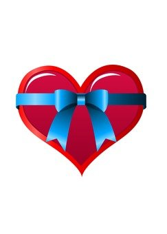 Heart with ribbon (red)