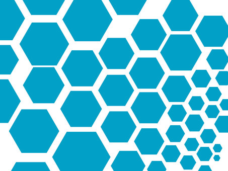 Hexagon pattern material