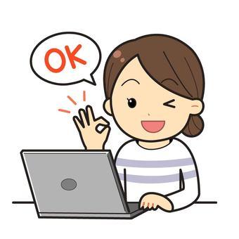 노트북 작업하는 여성 _04