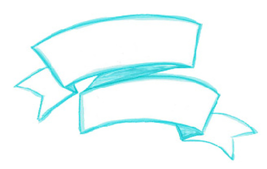 水彩絲帶框架