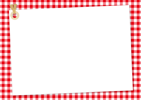 Memo tag <red × white gingham>