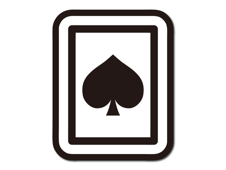 Playing cards spade