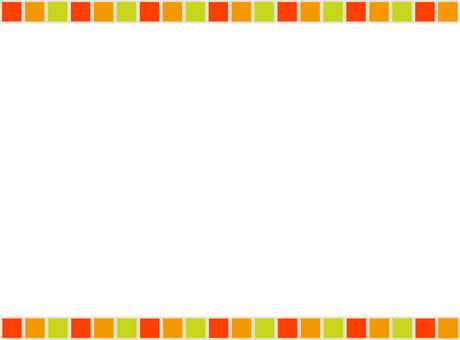 Three color frame pumpkin orange light yellow green 01