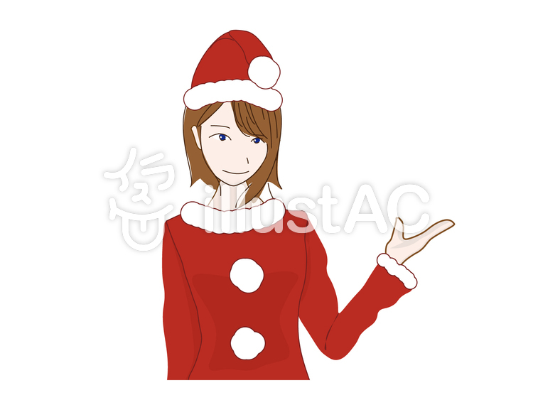 女性(クリスマス)のイラスト