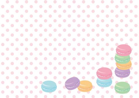 마카롱 프레임 (핑크 도트)