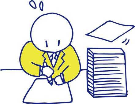 Employee overtime working yellow