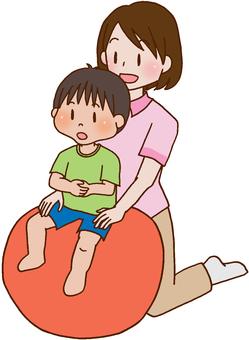 【Rehabilitation】 Children, Balance Ball
