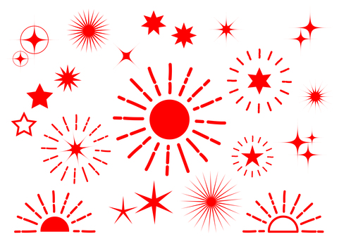 Red radial glitter background material