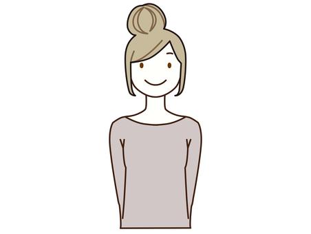 Bun head woman