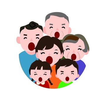 Chorus with family