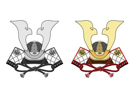 Helmet (Genji Genji) Flat & Grayscale