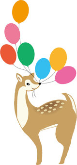 Deer and balloons