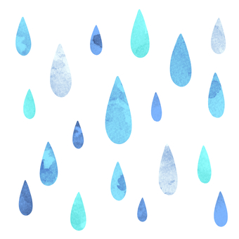Water drop watercolor style icon