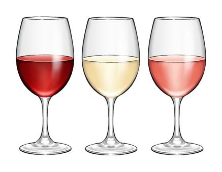 Wine red · white · rose