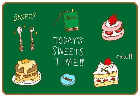 Sweets cake graffiti