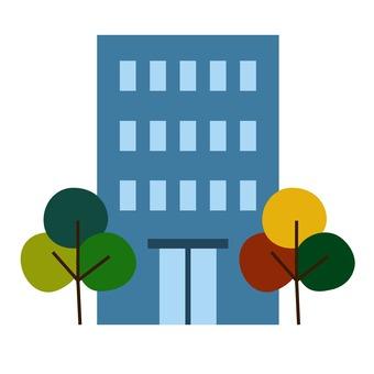 Moving illustration apartment