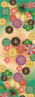 Japanese Pattern Chrysanthemum Festival