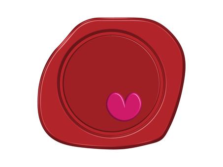 Heart wax seal