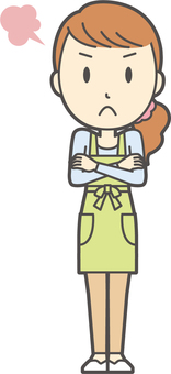 Apron youth long hair-317-whole body