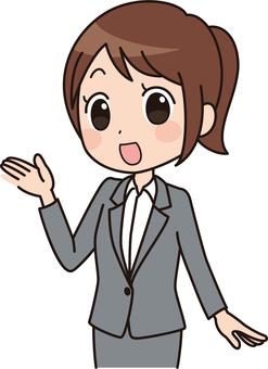 Women's anime style | OL | Suit |