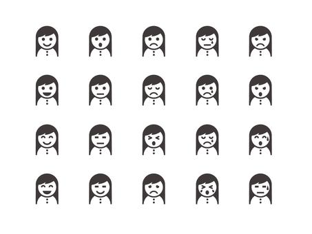 Long hair girl icon