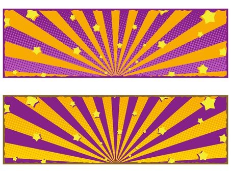 ハロウィンカラーのバナー素材セット2