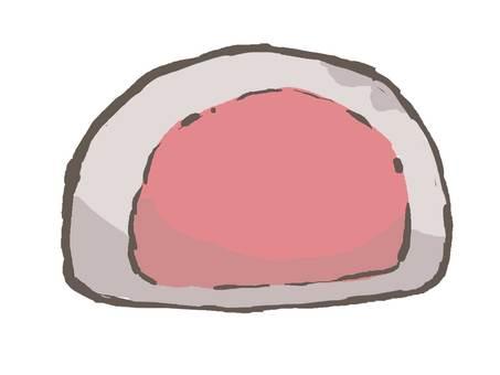 찹쌀떡 (핑크 팥소)