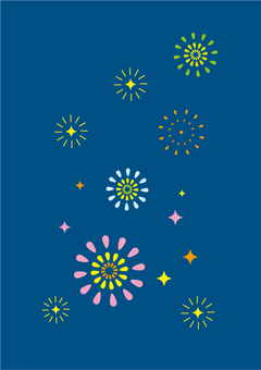 Fireworks glitter image