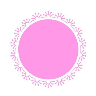 Lace paper pink