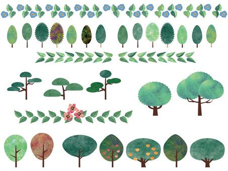 木と葉っぱのライン