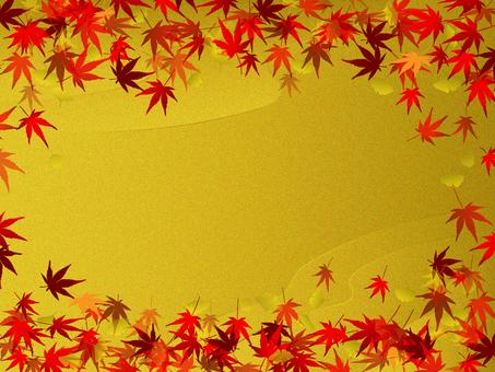 Gold leaf red leaves 3