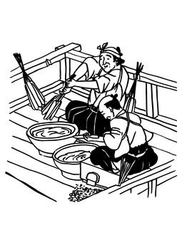 Candlesticker - Edo: Ukiyoe