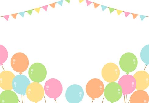 Carnival balloon frame