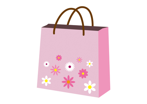 Shopping bag Pink flowers