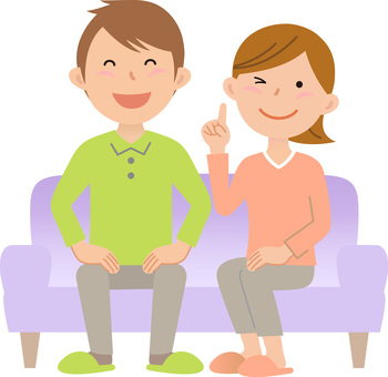 Couple's sofa, purple 2
