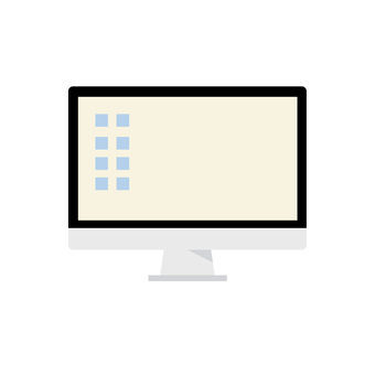 Desktop computer illustration icon