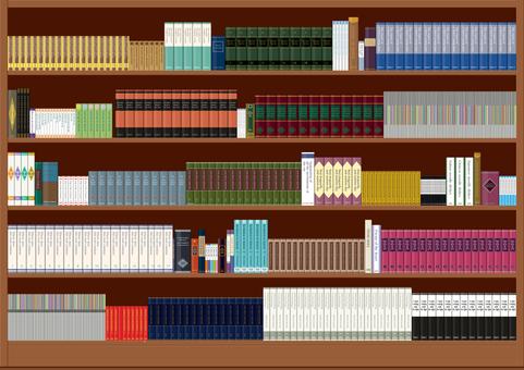 本がぎっしり並んだ本棚 蔵書 書棚