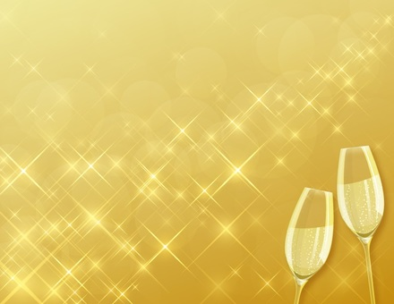 Champagne background toast