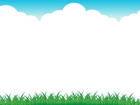 하늘과 초원의 테두리