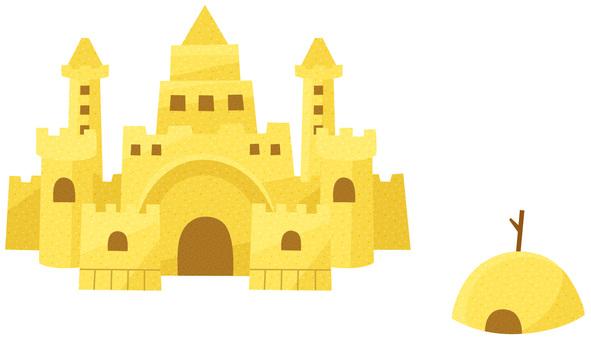 Sand castle (no line)