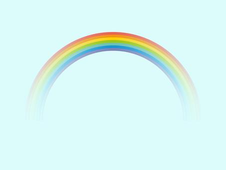 간단한 무지개와 하늘 7 색 그라데이션
