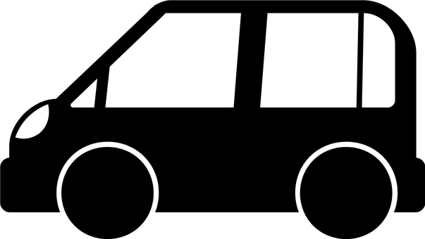 Compact car silhouette