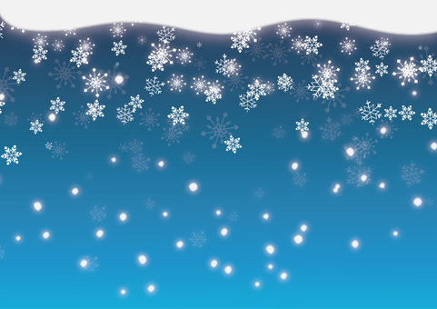 Snowflakes and powder snow background
