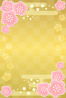 New Year card background material 4d