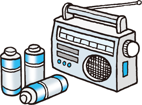 Radio and battery