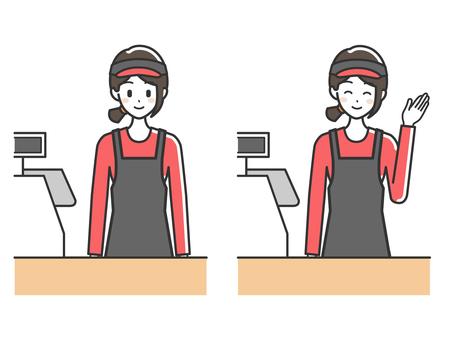 Women cash register 3